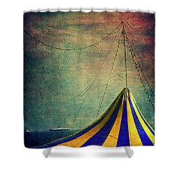 Circus With Distant Ships II Shower Curtain by Silvia Ganora