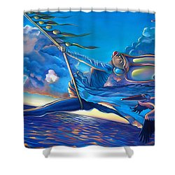 Cirque Du Sole Shower Curtain by Patrick Anthony Pierson