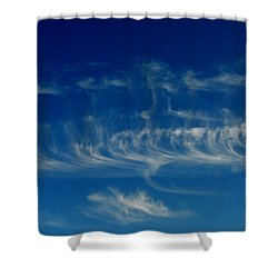 Cirrus Delights 2  Shower Curtain by Lyle Crump