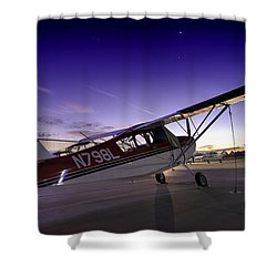 Citabria In The Twilight Of Dawn Shower Curtain