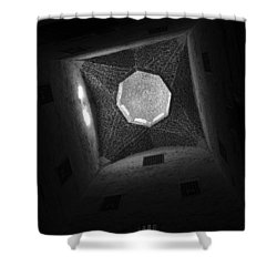 Shower Curtain featuring the photograph Citadel Dome Of Alex Bw by Donna Corless