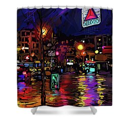 Citgo Sign, Boston Shower Curtain