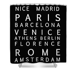 Cities Of Europe Shower Curtain by Georgia Fowler