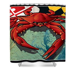 Citizen Crab Of Maryland Shower Curtain