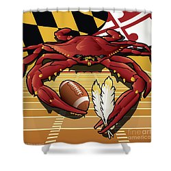 Citizen Crab Redskin, Maryland Crab Celebrating Washington Redskins Football Shower Curtain