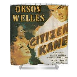 Citizen Kane - Orson Welles Shower Curtain by Georgia Fowler