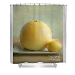 Shower Curtain featuring the photograph Citrus Brothers by Aiolos Greek Collections