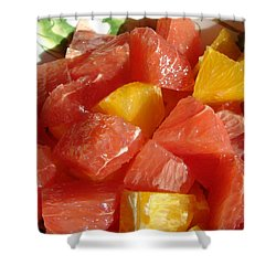 Shower Curtain featuring the digital art Citrus In Winter by Jana Russon