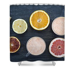 Citrus Smoothies Shower Curtain