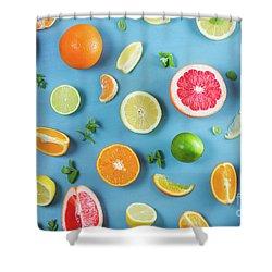 Citrus Summer Shower Curtain
