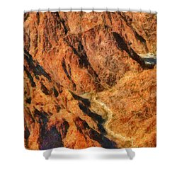 City - Arizona - Grand Canyon - A Look Into The Abyss Shower Curtain by Mike Savad