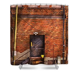 City - Door - The Back Door  Shower Curtain by Mike Savad