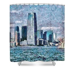 City - Ny - City Of The Future Shower Curtain by Mike Savad
