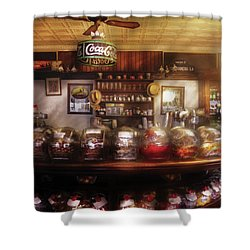 City - Ny 77 Water Street - The Candy Store Shower Curtain by Mike Savad