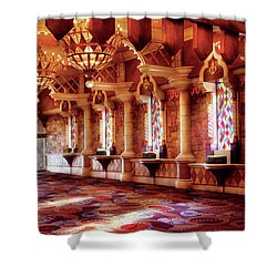 City - Vegas - Excalibur - In The Great Hall  Shower Curtain by Mike Savad