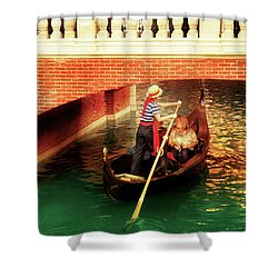 City - Vegas - Venetian - That's Amore Shower Curtain by Mike Savad