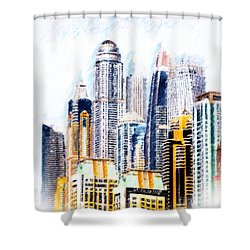 City Abstract Shower Curtain