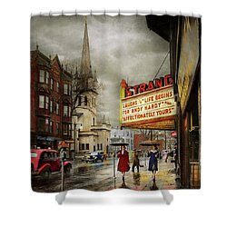 City - Amsterdam Ny - Life Begins 1941 Shower Curtain