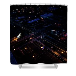 City At Night From Above Shower Curtain