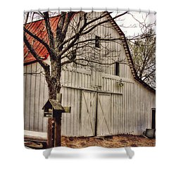 Shower Curtain featuring the photograph City Barn by Joan Bertucci