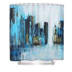 City Blues Shower Curtain