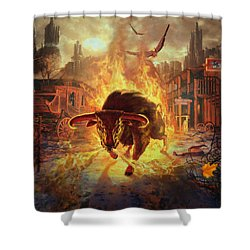 City Bull City Shower Curtain