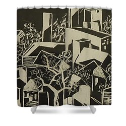 City By Moonlight - Sold Shower Curtain