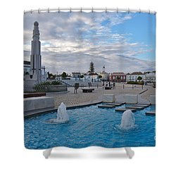 City Center Of Tavira Shower Curtain