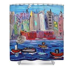 City City City Shower Curtain
