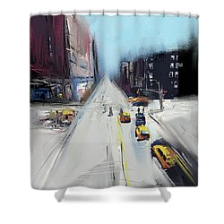 City Contrast Shower Curtain