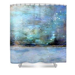 Shower Curtain featuring the digital art City Dream by Linda Sannuti