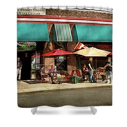 Shower Curtain featuring the photograph City - Edison Nj - Pino's Basket Shop by Mike Savad