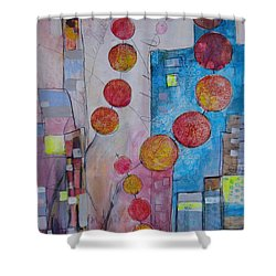 City Festival Shower Curtain by Karin Husty