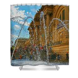 Shower Curtain featuring the photograph City Fountain  by Raymond Earley