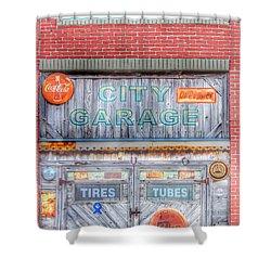 City Garage Shower Curtain