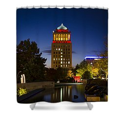 City Garden Shower Curtain by Andrea Silies