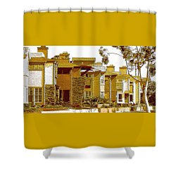 City Gold Shower Curtain by Ben and Raisa Gertsberg