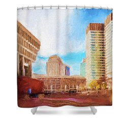 City Hall At Government Center Shower Curtain