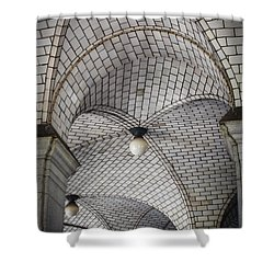 City Hall Ceilings Shower Curtain by Judy Wolinsky