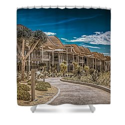Shower Curtain featuring the photograph Newport Beach California City Hall by TC Morgan