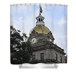 City Hall Savannah Shower Curtain
