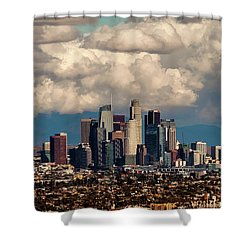 City In The Clouds Shower Curtain