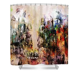City Life Shower Curtain by Claire Bull