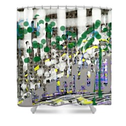City Life Rat Race Shower Curtain
