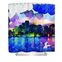 City Lights Limits - Painting Shower Curtain by Sir Josef - Social Critic -  Maha Art