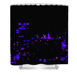Toronto City Lights Shower Curtain