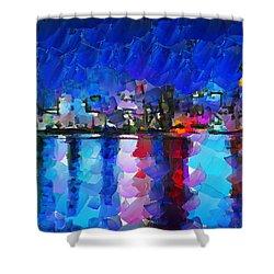 City Limits Tokyo Shower Curtain by Sir Josef - Social Critic - ART
