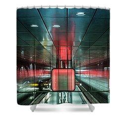 City Metro Station Hamburg Shower Curtain