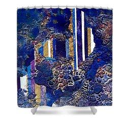 City Mirage Shower Curtain by Lynda Stevens