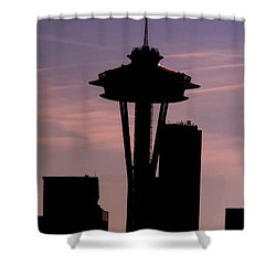 City Needle Shower Curtain by Tim Allen